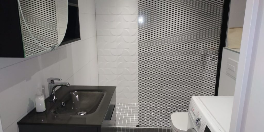 Photo de travaux de rénovation de salle de bain à Lille